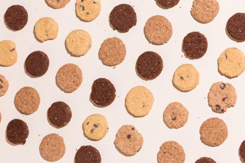 Kekse aus der Gebäck-Presse