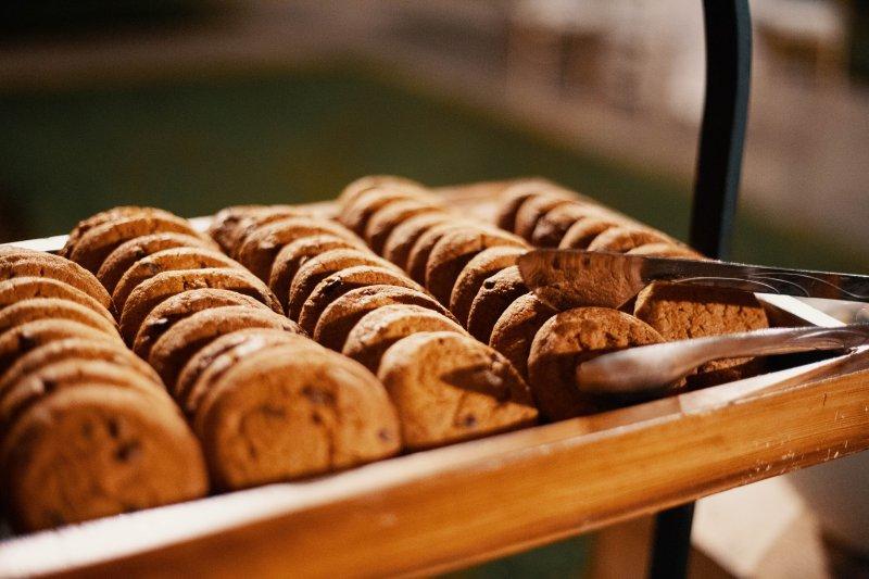 Kekse aus einer Plätzchen-Presse