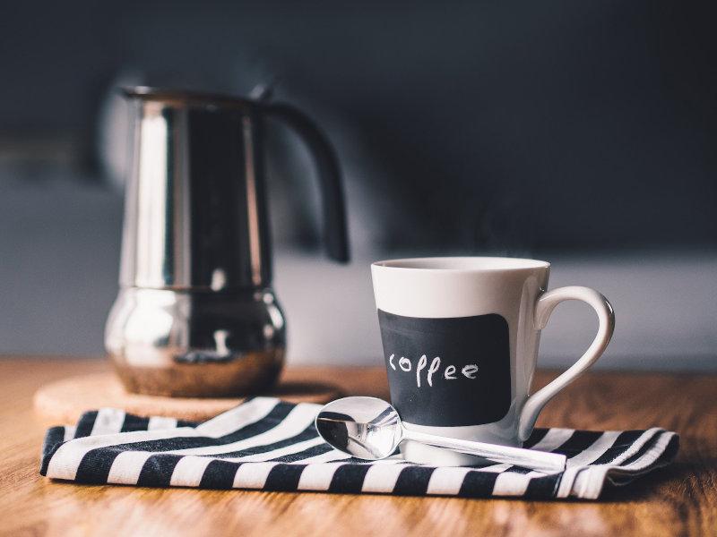 Kaffe und Espressokanne